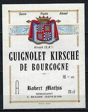 Etiquette - Alcool - Guignolet Kirsché De Bourgogne - R.Mathis - N°197
