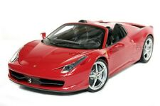 FERRARI 458 ITALIA SPIDER DIE CAST RED 1/18 BY HOT WHEELS ELITE W1177