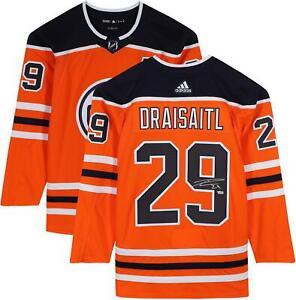 Leon Draisaitl Edmonton Oilers Autographed Orange Adidas Authentic Jersey