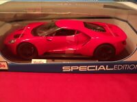 Maisto 2017 Ford  GT  1/18 scale new in box red exterior 2019 release