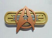 Star Trek Movie 2-6 Chest Combadge Com Badge Pin Communicator Uniform Maroon
