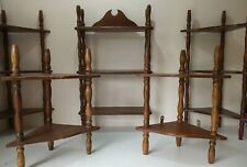 Vintage SHELVING DISPLAY Small Wooden Tiered Wot Not Corner Wall Units Shop/Home