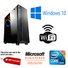 ULTRA FAST i5 i7 Desktop Gaming Computer PC SSD 2TB 16GB RAM GTX 1660 Windows 10