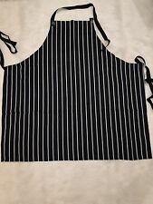 Bib Apron Navy/White Yarn-Dyed Woven Stripe