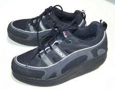 MBT Sport 03 Men's 9 EUR 43 Black Leather Textile Rocker Sole Athletic Shoe EUC