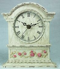 Bordeaux Rose Design Desk Mantel Clock Wooden Pink & Cream PP295 NEW in Box