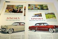 Lincoln 1953 Magazine clippings advertisement Cosmopolitan & Capri V8