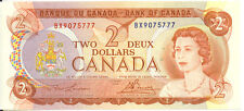 Bank of Canada 1974 $2 Two Dollars Lawson-Bouey Better BX Prefix AU++