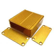 Gold Aluminum PCB Instrument Box Enclosure Electron Project Case 45x45x18.5mm