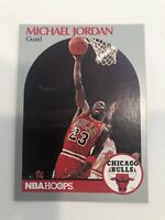 MICHAEL JORDAN 1990 NBA HOOPS #65 Chicago Bulls Guard Basketball Card