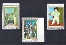 Republica Centroafricana Pintura Centenario de Picasso valores año 1981 (DQ-570)