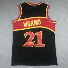Wilkins #21 Men's Classic Black Basketball JERSEY Atlanta Hawks