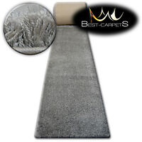 FLUFFY CHEAP SOFT RUNNER SHAGGY 'NARIN GREY' HIGH QUALITY nice in touch CARPETS