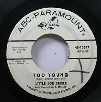 Hear! Northern Soul Promo 45 Little Joe Steele - Too Young / So Long On Abc-Para