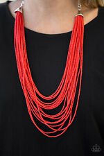 Peacefully Pacific Red Necklace By: Paparazzi