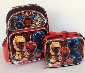 """New Power Ranger:Unleash Powder 16""""inches School Backpack & Lunch Box(Brand new)"""