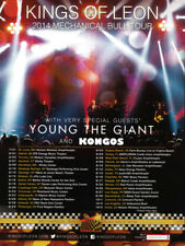 Kings of Leon 1-page clipping 2014 ad for Mechanical Bull Tour