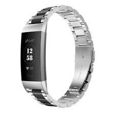 Armband für Fitbit Charge 4/3/2 Verstellbarer Edelstahl Ersatzband Uhrenarmbänd