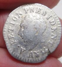 1817 (AN 14 ) HAITI ( 12 CENTIMES) SILVER---- VERY SCARCE----- COLONIES----