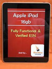 APPLE iPAD 1 GEN A1219 16GB 9.7in WiFi TABLET iOS 5.1.1 BLACK/GRAY