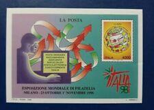 1998 ITALIA FOGLIETTO ESPOSIZIONE MONDIALE DI FILATELIA A MILANO 4000 LIRE