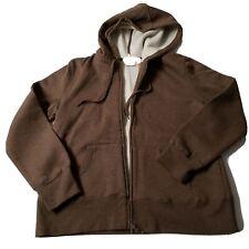 Men's Fleece Brown hoodie Large by Covington,  New