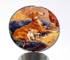 Whelping Greyhound Dog with Puppies Wine Bottle Stopper Whippet Ig