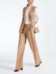MAX MARA suit vest & pants  100% CAMELHAIR SIZE D44 USA14 F46 Mex36 GB16 IT48