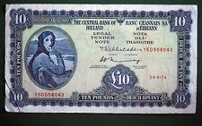 1974 Irish Ten pound £10 Central Bank of Ireland banknote Lady Lavery *[12212]