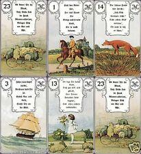 36 Mlle Lenormand Karten Deck Text Orakel Karten Tarot Kartenlegen ND. c1850 Y