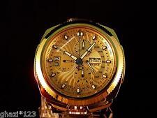 Invicta Reserve Men's Excursion Swiss Chrono Retro 18K Gold IP HP Bracelet Watch