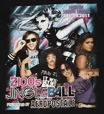 Z100s Jingle Ball 2011 Concert T-Shirt Medium Demi Lovato Pitbull Lady Gaga Rare