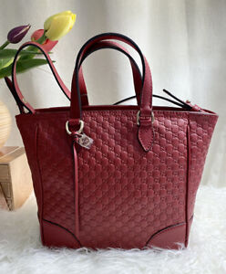 Gucci Red Micro-guccissima Leather Small Tote Crossbody Bag