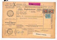 BC3 1935 Switzerland La Chaux de Fonds Parcel Coupon {samwells} PTS