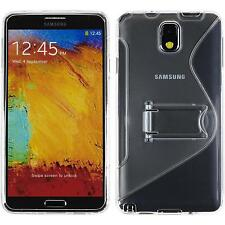 Coque en Silicone Samsung Galaxy Note 3 pied support transparent