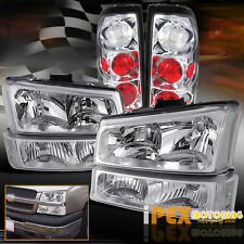 2003-2006 Chevy Silverado 1500/2500HD/3500 Chrome Headlights+Signals+Tail Lights