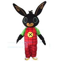 Bing Black Rabbit Mascot Costume Bunny Cosplay Parade Fancy Dress Halloween