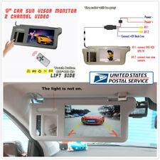 "9"" Car Sun Visor Video TFT LCD Monitor Left Side For DVD/VCD/GPS/TV Input Signal"