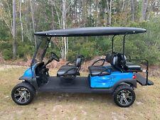 2014 Lifted Club Car Precedent LIMO 48 Volt Golf Cart - Blue / Black Beach Life!