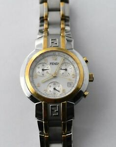 Fendi Zucca F455110 Chronograph Watch -  AS IS -  NO RESERVE