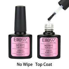 Elite99 Soak Off No Wipe Top Coat UV LED Gel Nail Polish Manicure Varnish 10ML