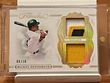 🔥RARE #/10 DUAL PATCH Rickey Henderson 2020 FLAWLESS GOLD Jersey Card non- auto