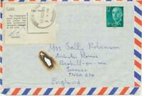 GB 1975 DISASTER MAIL flight cover from SPAIN w. skeleton BEXHILL-ON-SEA SUSSEX