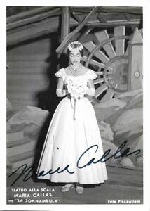Oper MARIA CALLAS - original Autogramm auf Scala Foto, orig SIGNIERT / SIGNED