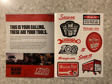 Snap-on Tools 100th 12 pc Sticker Sheet