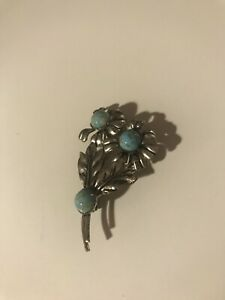 Blue Stoned Broach