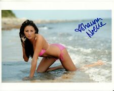 SHAUNA NOELLE hand-signed WET BIKINI ON KNEES IN OCEAN 8x10 w/ uacc rd coa PROOF