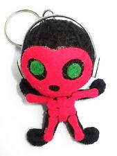 Halloween Skeleton Skelly Red Voodoo Horror String Doll Charm Key Ring Keyring