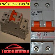 Termico MAgneto Térmico Automático LEGRAND Bipolar 1P+N Curva NARANJA 16A 400V