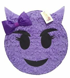 "Purple Sneaky Emoticon Pinata 16"""